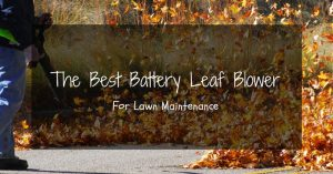 What To Care For In The Best Battery Powered Leaf Blower?