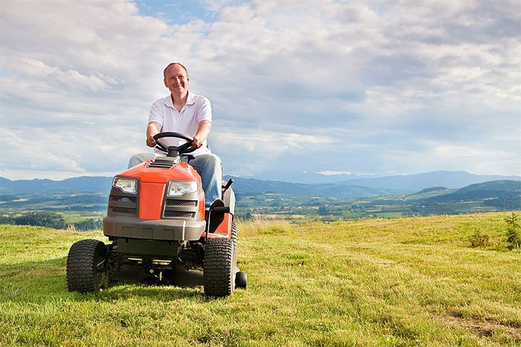 best small riding lawn mower for hills